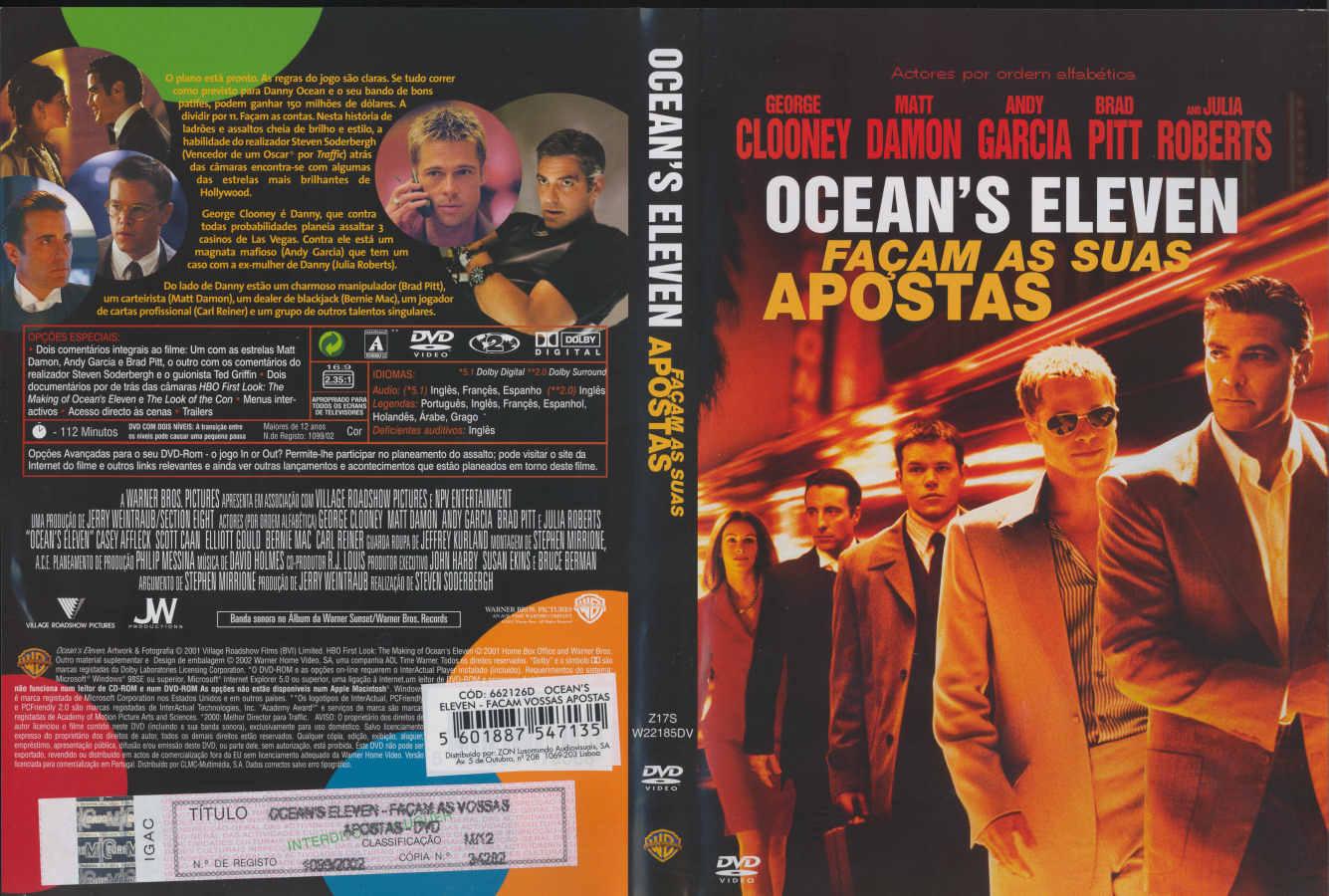 Oceans eleven – facam as vossas apostas andy garcia